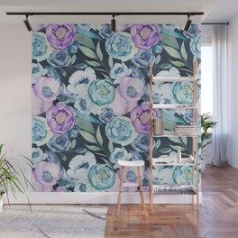 Dark Floral Spring Wall Mural