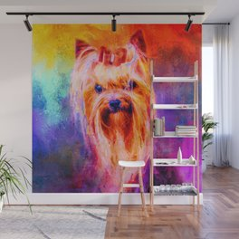 Jazzy Yorkshire Terrier Colorful Dog Art by Jai Johnson Wall Mural