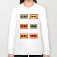 cassette Long Sleeve T-shirts featuring cassette by vitamin