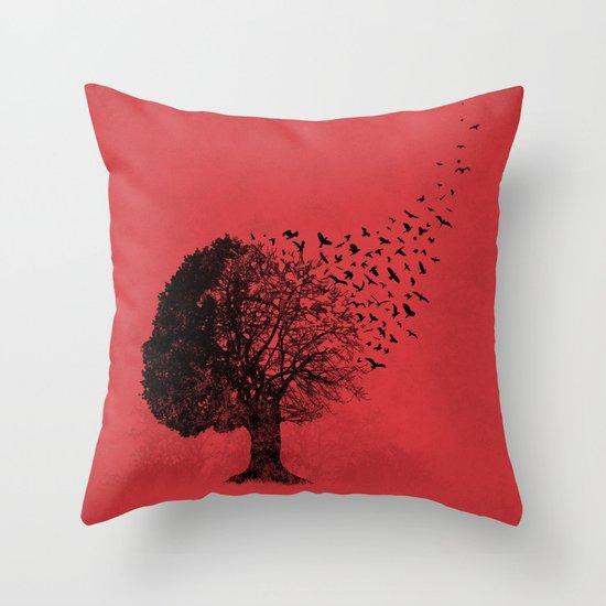 Autumn Birds Throw Pillow