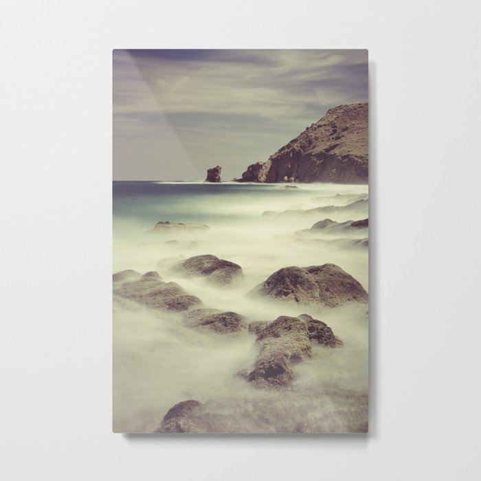 Water. Volcanic rocks. Metal Print