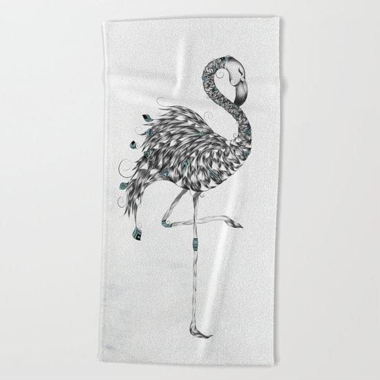 Poetic Flamingo Beach Towel