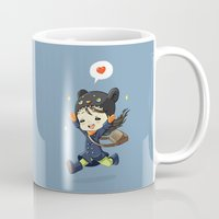 happiness Mugs featuring Happiness by Freeminds