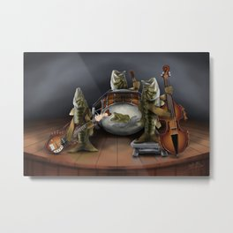 Bass Playing Bass Metal Print
