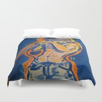 iggy Duvet Covers featuring IGGY POP  by Punkboy Marti