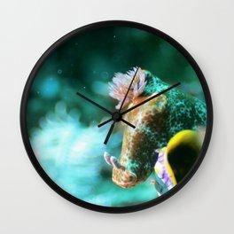 Ethereal nudibranch Wall Clock