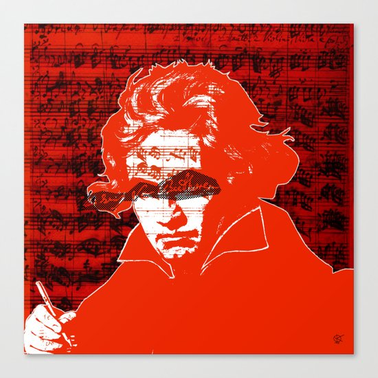 Ludwig van Beethoven · red10 Canvas Print