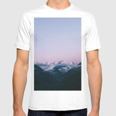 Sunset Mountains (pastel) Mens Fitted Tee White MEDIUM