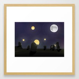 Lanterns, (The Unexpected Adventures: Moon Day) Framed Art Print