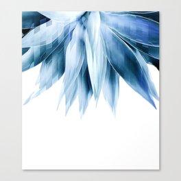 Agave geo fringe - blue Canvas Print