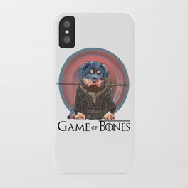 Game of Bones Ayra as a rottweiler iPhone Case