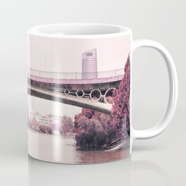 Pink mood at Triana Bridge Coffee Mug