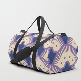 Fan Pattern Lavender and Blue 991 Duffle Bag