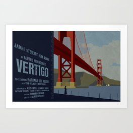 Vertigo alternate movie poster Art Print