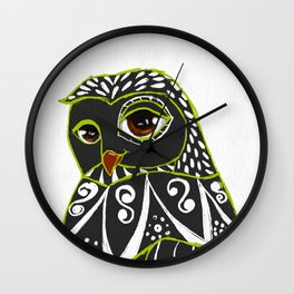 Kaleidoscope Owl Wall Clock
