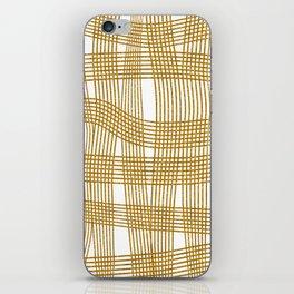 Gold Glitter Cross Hatch iPhone Skin