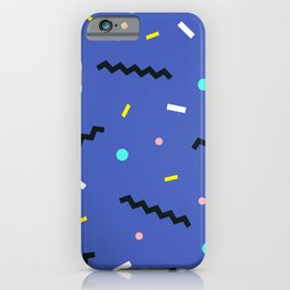 Memphis pattern 57 iPhone Case