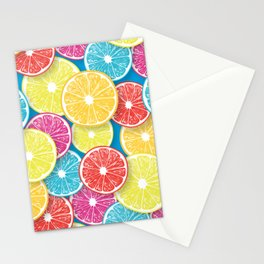 Citrus fruit slices pop art  Stationery Cards
