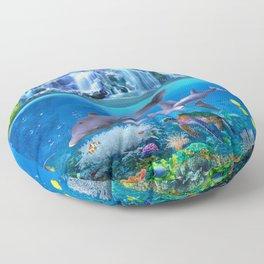 The Dolphin Family Floor Pillow