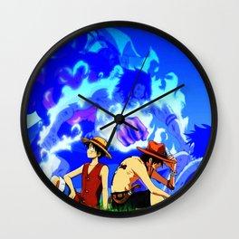 behind his Wall Clock