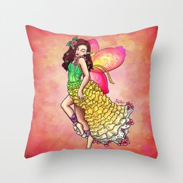 Spring Fairy Throw Pillow
