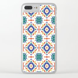 Moroccan Tiles Clear iPhone Case