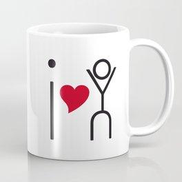 I love you - timeless artwork built of letters Coffee Mug