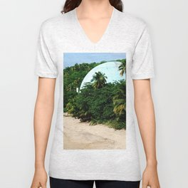 United States first Nuclear plant @ Rincon Unisex V-Neck