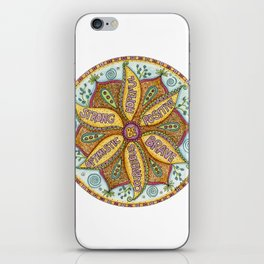 Be Fearless Mandala iPhone Skin