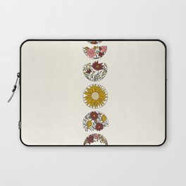 Floral Phases of the Moon Laptop Sleeve