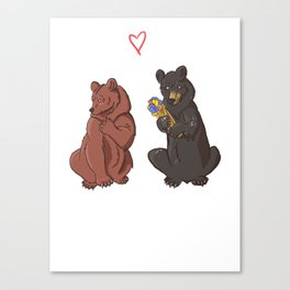 Be my Honey Bear Canvas Print