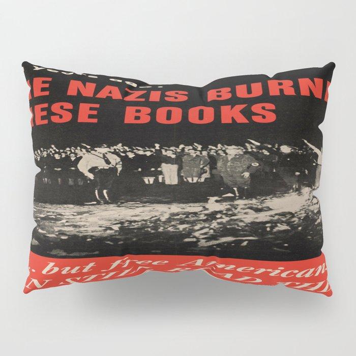 Vintage poster - Burned Books Pillow Sham