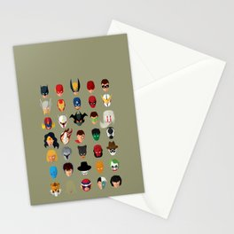 SuperHeroes Stationery Cards