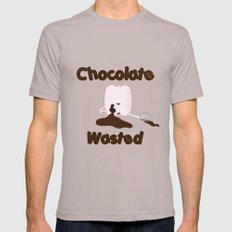 Chocolate Wasted (blue) Cinder SMALL Mens Fitted Tee