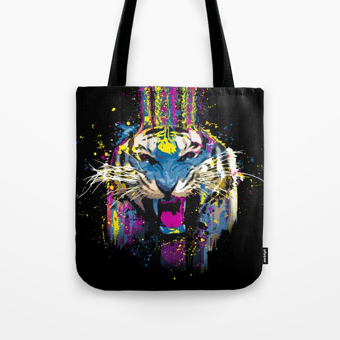 Inked Tiger Tote Bag