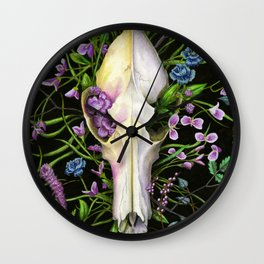 Coyote Bloom Wall Clock
