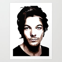 LOUIS TOMLINSON Vector Portrait Art Print