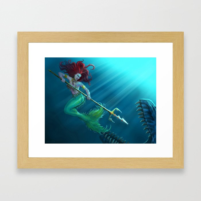 Not so little mermaid... Framed Art Print