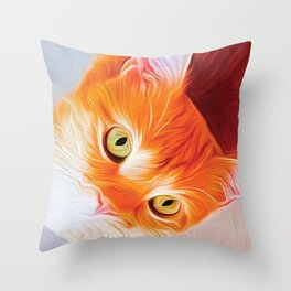 Tiny Cat Throw Pillow