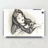 sleeping beauty iPad Cases featuring Sleeping Beauty by Herself