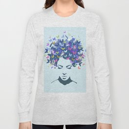Woman Butterfly Long Sleeve T-shirt