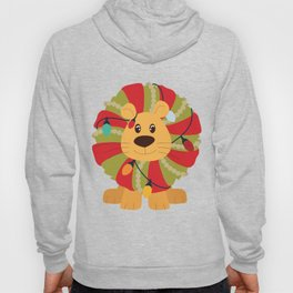 Your Big Cat in Decorative Christmas Wreath Hoody