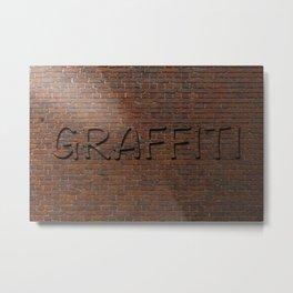 Anti Graffiti 3D Brick Wall Metal Print