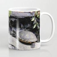 turtles Mugs featuring Turtles by ValerieBlack101