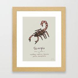 Scorpio V2 Framed Art Print
