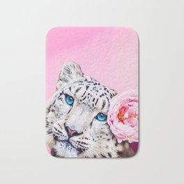 Peony Snow Leopard Bath Mat
