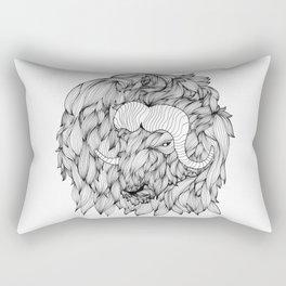 A Muskox Rectangular Pillow