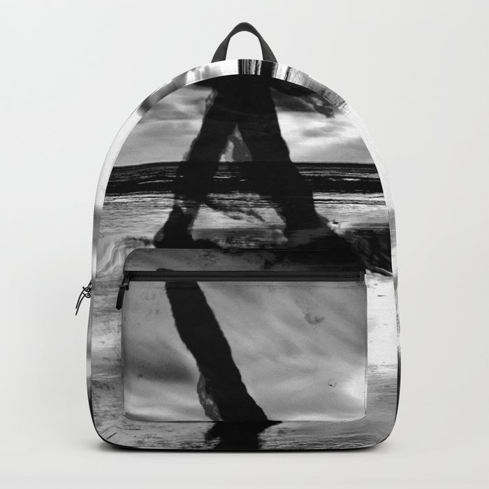 A walk with the dog - black version Backpack
