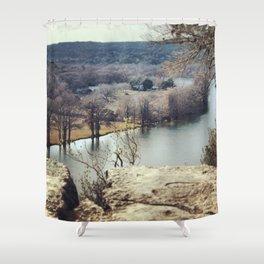 Lake Austin Bend Shower Curtain