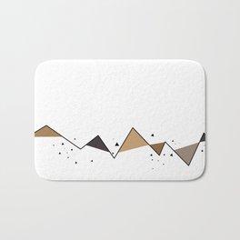 Neutral Geometric Mountains Bath Mat